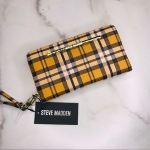 Steve Madden | Plaid Zip Around Wallet Clutch